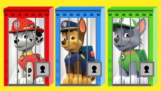 Learn Colors With Paw Patrol Keys and Jails