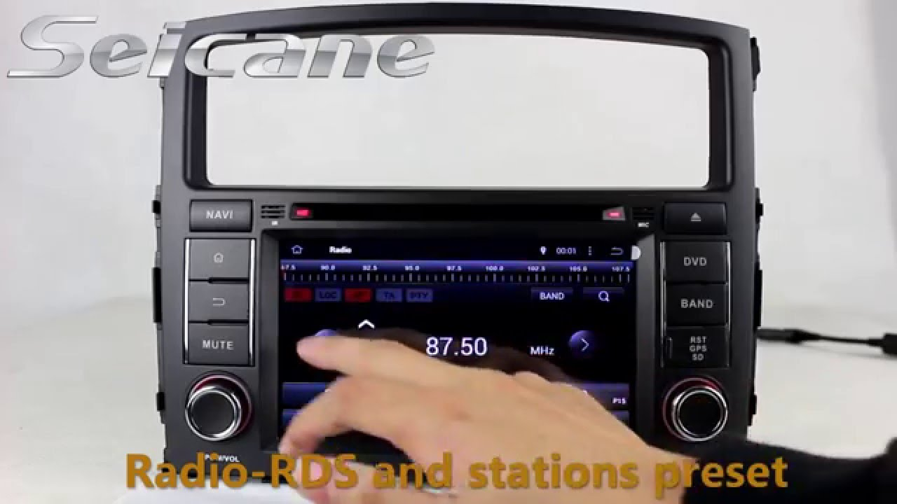 7 mitsubishi pajero v97 v93 stereo upgrade to aftermarket sat nav dvd gps support digital tv swc [ 1280 x 720 Pixel ]