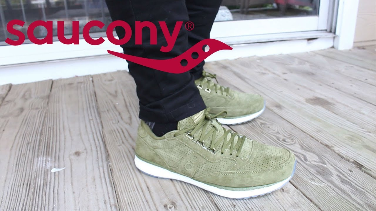 aa0cd74c1155 SNEAKER ON-FOOT  SAUCONY FREEDOM RUNNER OLIVE - YouTube