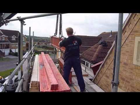 Restyle Loft Conversions Lifting Steel Beams Into A