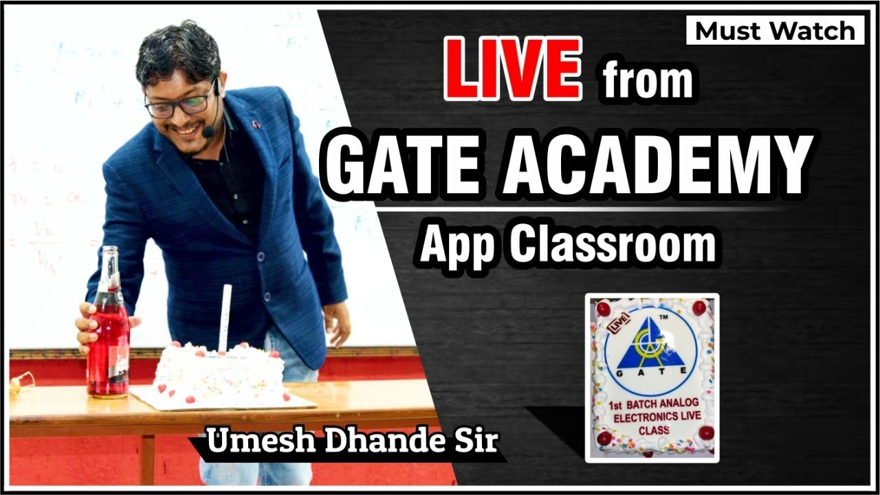 Live From GATE ACADEMY APP Classroom | First Batch of Analog Electronics |