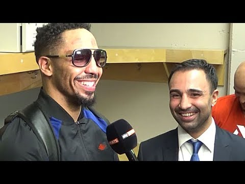 PAULIE MALIGNAGGI INTERVIEWS ANDRE WARD IN DRESSING ROOM RIGHT AFTER KOVALEV TKO (BEHIND-THE-SCENES)