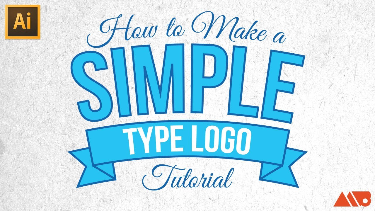 adobe illustrator tutorial how to make a simple type logo youtube
