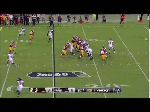 Washington Redskins @ Baltimore Ravens, Anthony Lanier  Sack