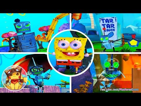 SpongeBob Battle for Bikini Bottom – All Main Robots (Cutscenes) [1080p]
