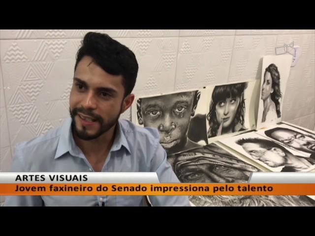JL - Jovem faxineiro do Senado impressiona pelo talento