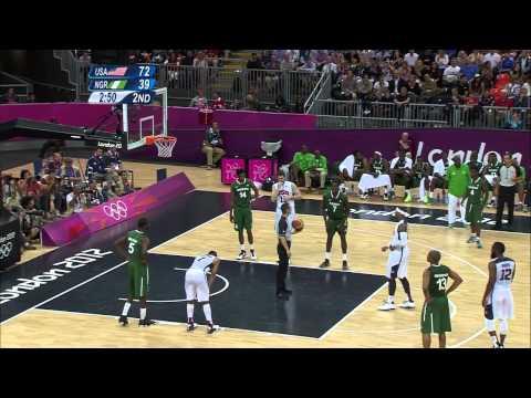 USA v Nigeria   USA Break Olympic Points Record   Men's Basketball Group A   London 2012 Olympics