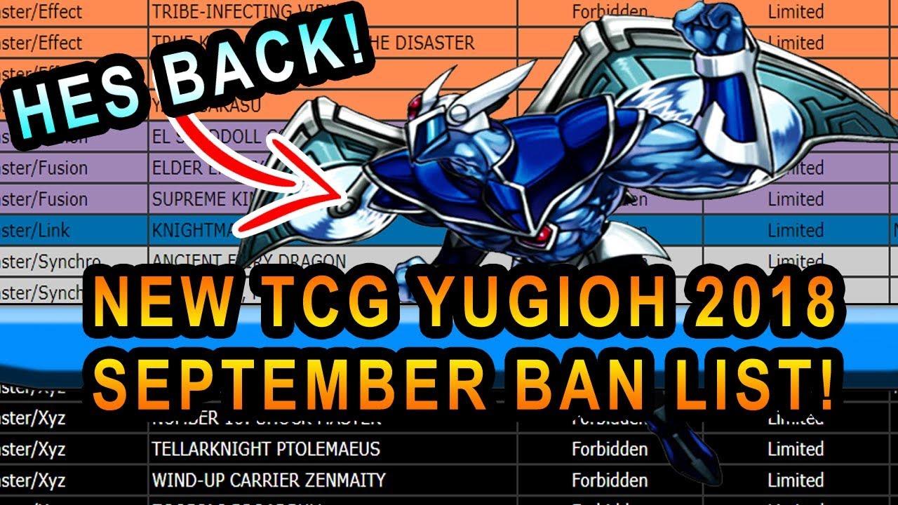 Yugioh Ban List September 2020.New Yugioh September Banlist Who Got Banned Stratos Back Sept 2018 Tcg Banlist