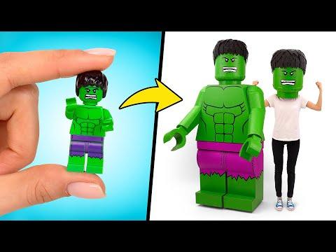 Как сделать потрясающий LEGO-костюм из картона
