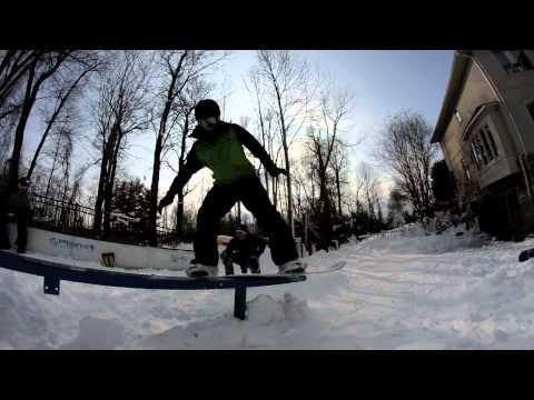 Nick Snowboard Backyard Terrain Park Session 1.26.13 ...
