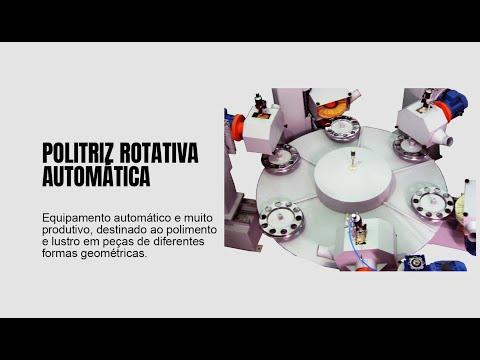 Politriz automática de mesa rotativa | Calota de caminhão | Rebel