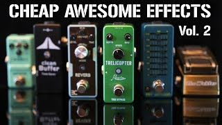 More CHEAP but AWESOME mini effects pedals! (Most are less than $25)