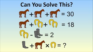 """""""only A Genius Can Solve"""" Viral Math Problem - The Horse, Horseshoe, Boots Problem"""
