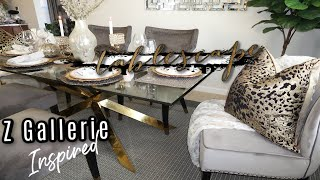 Z Gallerie Inspired Tablescape || How To Style Zgallerie Table