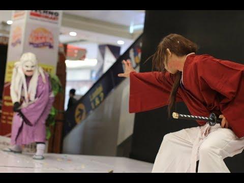 RUROUNI KENSHIN Cosplay PERFORM Himura Kenshin vs Shisio Makoto COSKA