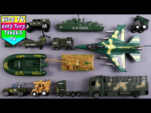 Learn Army Vehicles For Kids Children Babies Toddlers Babies | War Ship Plane Tank Trucks | Kids TV