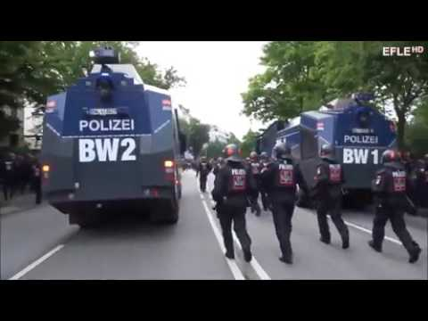 Rohirim Charge at G20 Hamburg Protest