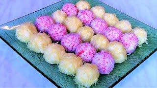 Сырные шарики Рафаэлло с двумя вкусами. Быстрая закуска для праздничного стола .