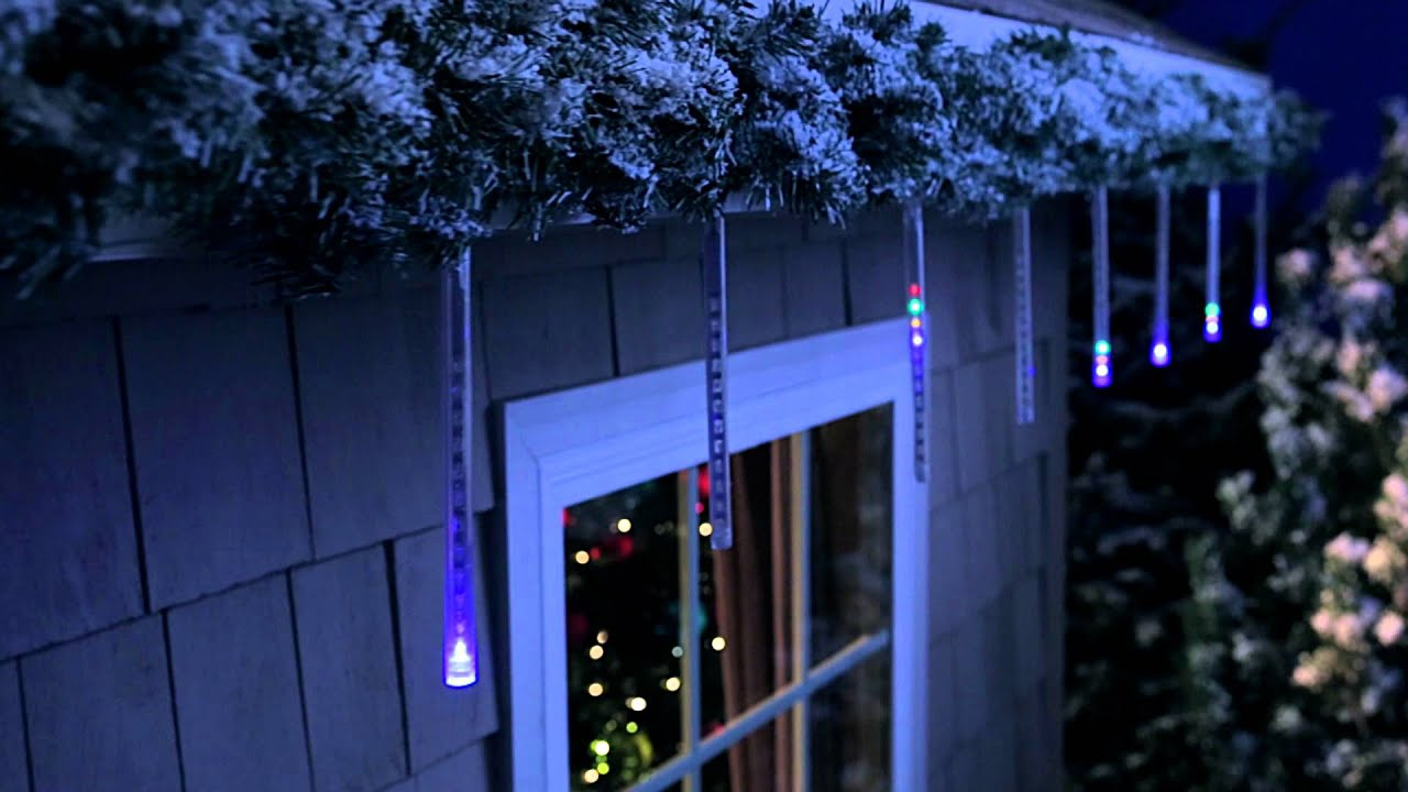 & Philips 6 ct Cascading Icicle Light Set - YouTube