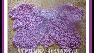 Жакет-болеро для девочки вязаный крючком. Часть 2.Bolero jacket for girls crocheted. Part 2.