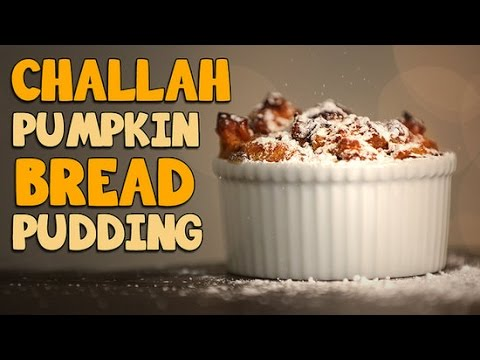 How to Make Challah Pumpkin Bread Pudding - YouTube