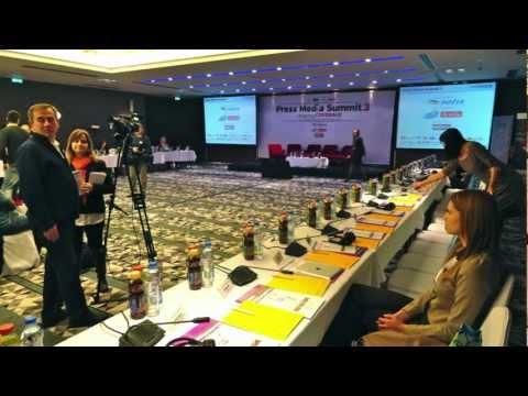 Cron CTP (UV CTcP) at Press Media Summit 2012. Belgrade - Serbia