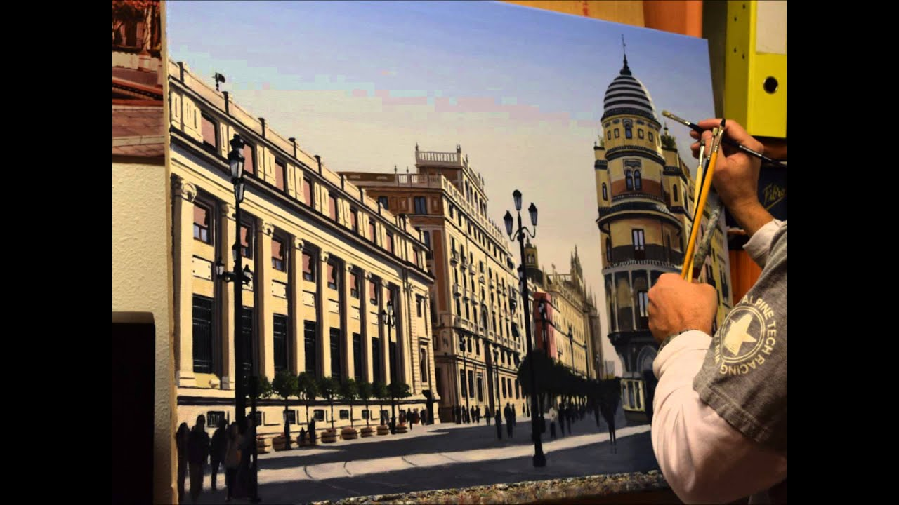 Time Lapse Oleo Edificio Filella Sevilla De Manolo Castro Thomas Cadiz Mayo 2015