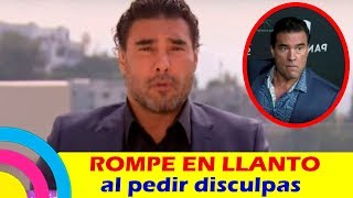 Eduardo Yáñez ROMPE EN LLANTO al PEDIR DISCULPAS frente a las CÁMARAS (video)