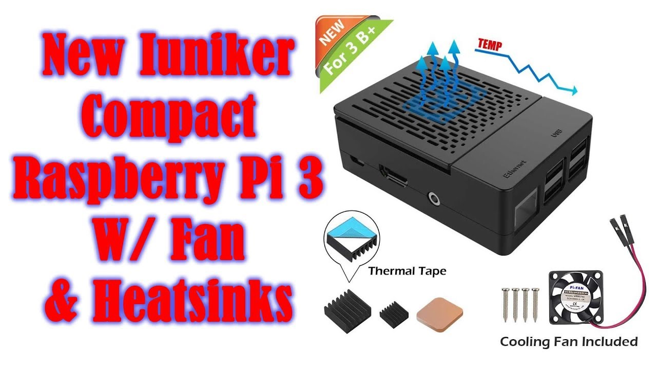 Iuniker Raspberry Pi 3 B Case With Cooling Fan Setup Review Youtube