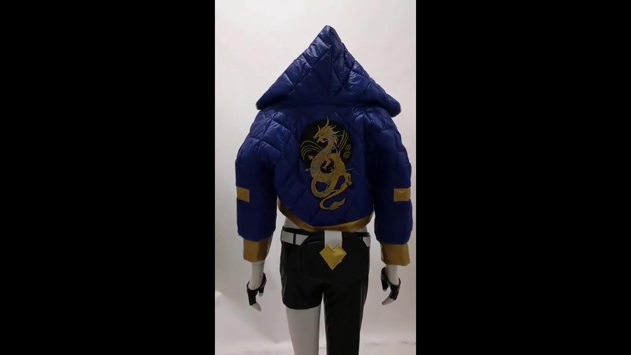 LOL KDA Akali Outfit K//DA Cosplay Costume Cool Jacket Pants Belt Glove Full Set