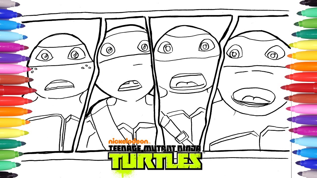 TEENAGE MUTANT NINJA TURTLES Coloring Pages | Leo Donatello Raphael ...