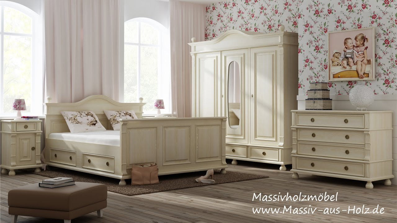 kleiderschrank im landhausstil f r ihr schlafzimmer youtube. Black Bedroom Furniture Sets. Home Design Ideas