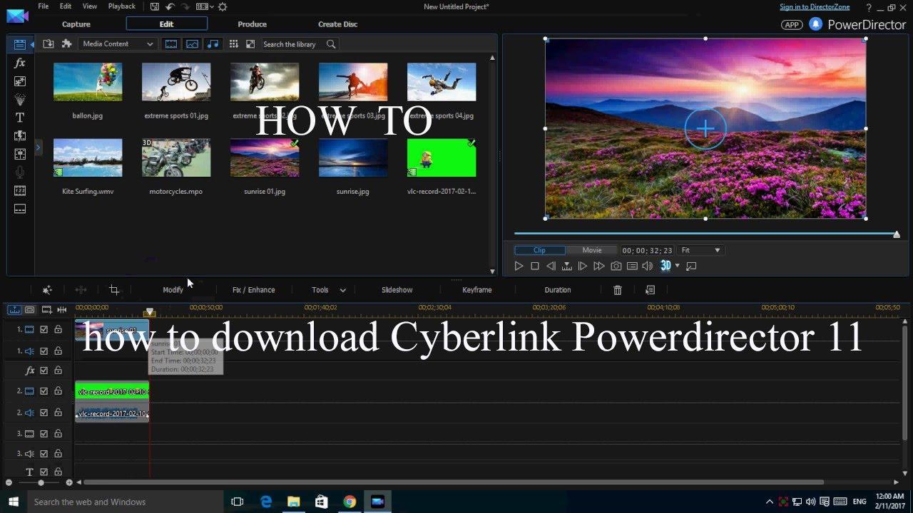 cyberlink powerdirector 11 full version free download