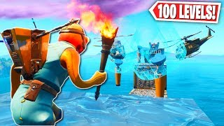 The PERFECT 100 LEVEL DEFAULT Deathrun in Fortnite! (Fortnite Creative Mode)