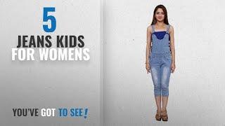 Top 10 Jeans Kids For Womens [2018]: FNocks Women Ladies & Girls Denim Slim Fit Casual Capri Dangri