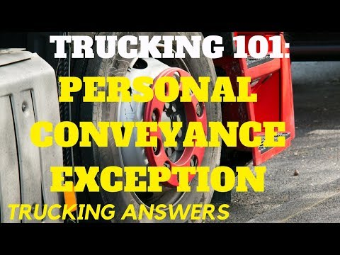 DOT Personal Conveyance Exception Explained