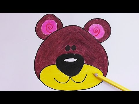 Como Dibujar Y Pintar Rostro De Oso How To Draw And Paint Face Oso