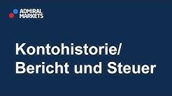 Kontohistorie und Steuer beim Forex& CFD-Trading bei Admiral Markets