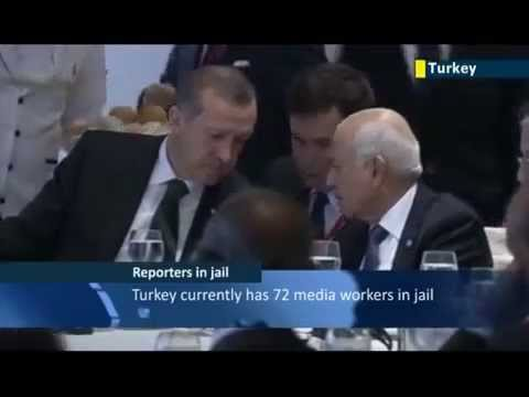 Ankara accused of muzzling media  Turkey branded 'world's biggest prison for journalists'