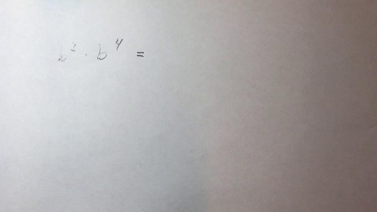 Algebra - multiplikasjon av to potenser med samme grunntanken