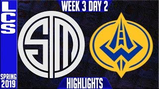TSM vs GGS Highlights | LCS Spring 2019 Week 3 Day 2 | Team Solomid...