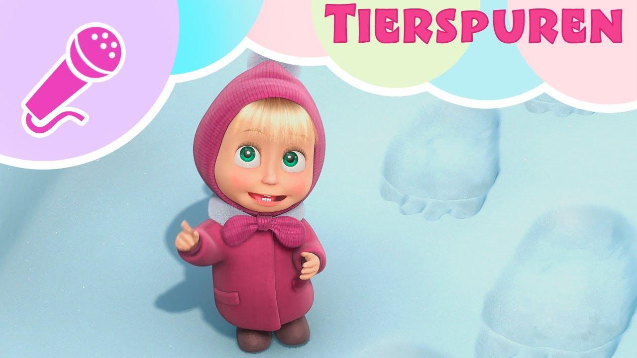 TaDaBoom Deutsch ????⛄ TIERSPUREN  ⛄???? Singe mit Masha! ???? Spuren im Schnee ❄️ Mascha und der Bä