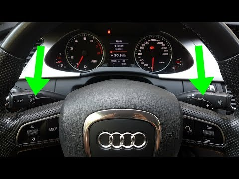 Audi A4 B8 – How to install and activate F1 paddle shifters steering wheel