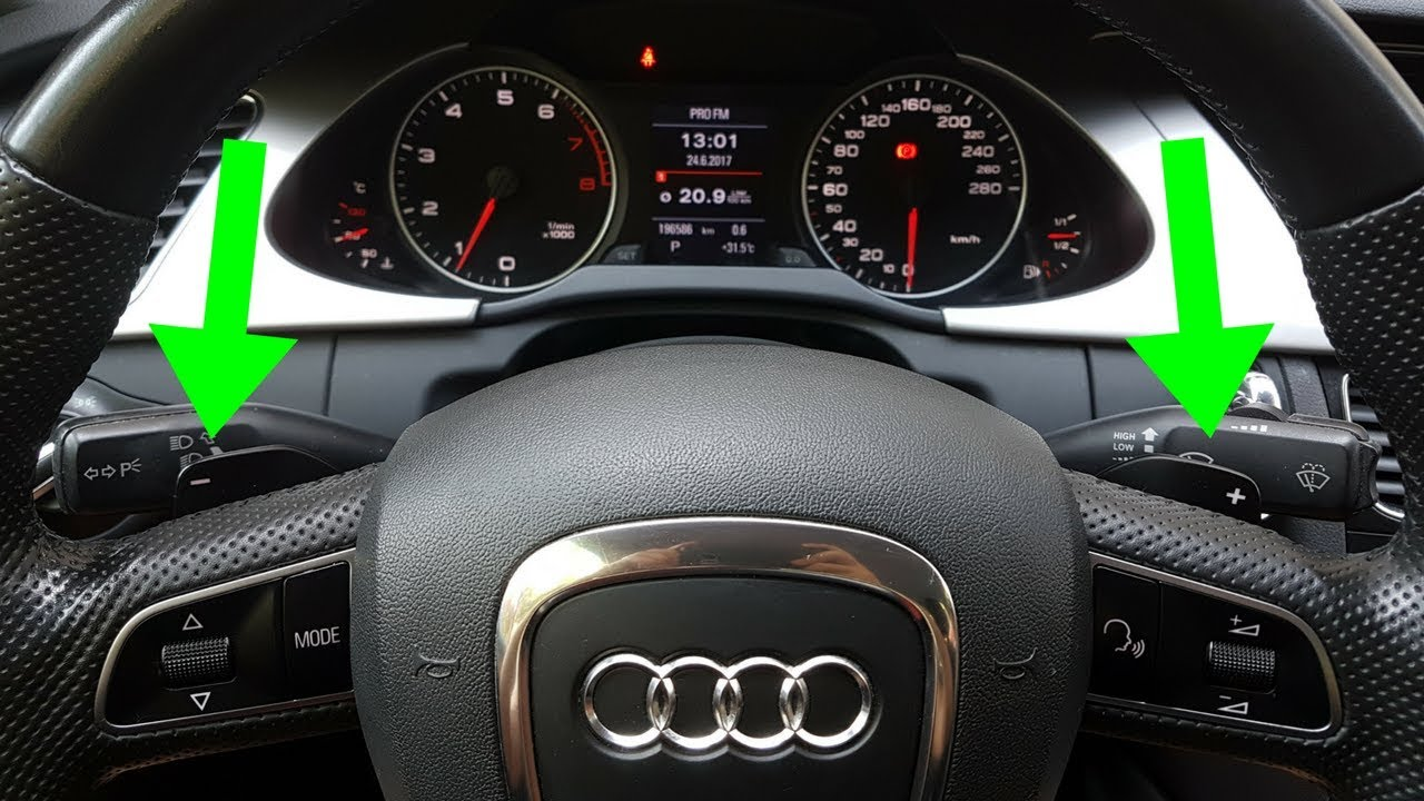 Audi A4 B8 How To Install And Activate F1 Paddle Shifters Steering B7 S4 Fuse Box Wheel