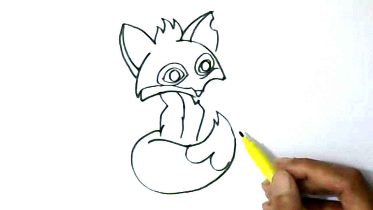 How to draw Animal Jam Fox in easy steps for children ...