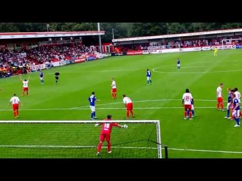 James Tarkowski equaliser for Oldham against Stevenage FC