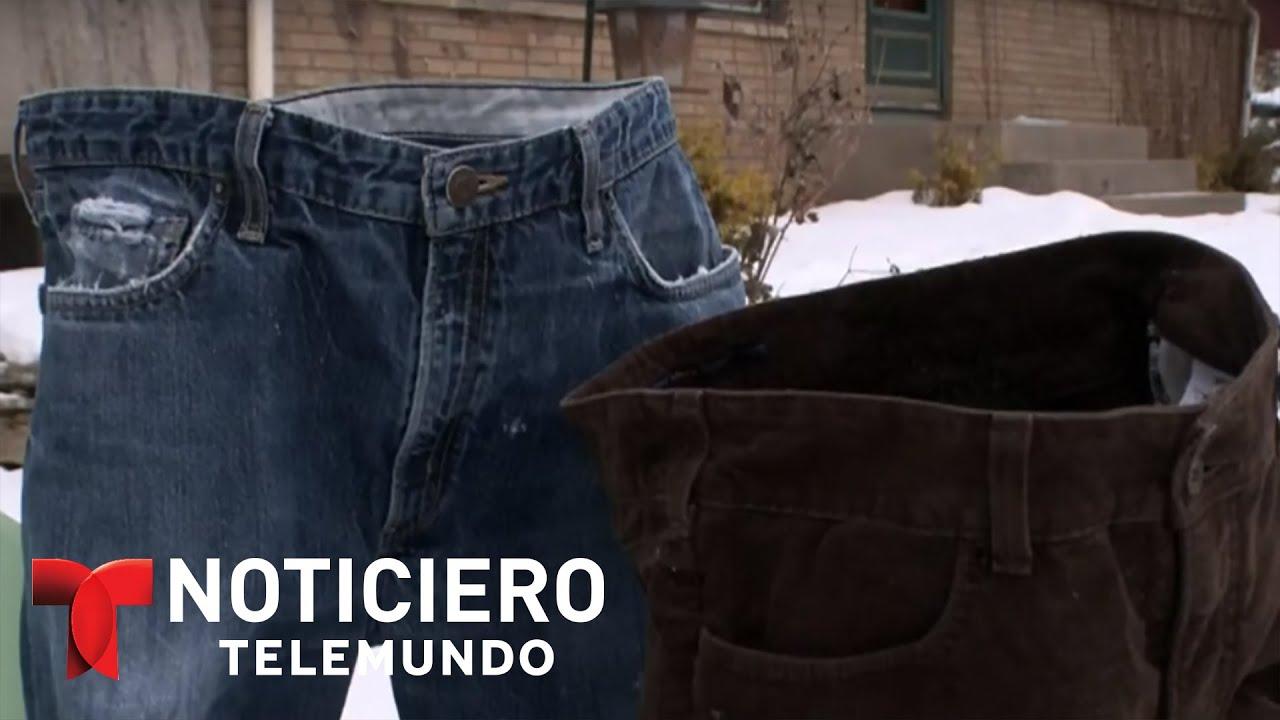 130e9fd515 Hombre deja congelar sus pantalones y muchos lo repiten