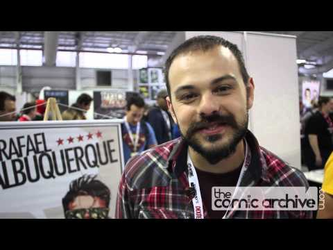 Comic Book Artist Rafael Albuquerque at NYCC 2012