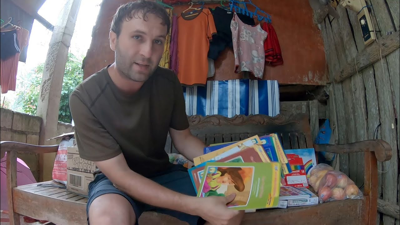 NEW PROJECT - Library For Village I Live In - & Gifts for Reche's family - Province Life Philippines