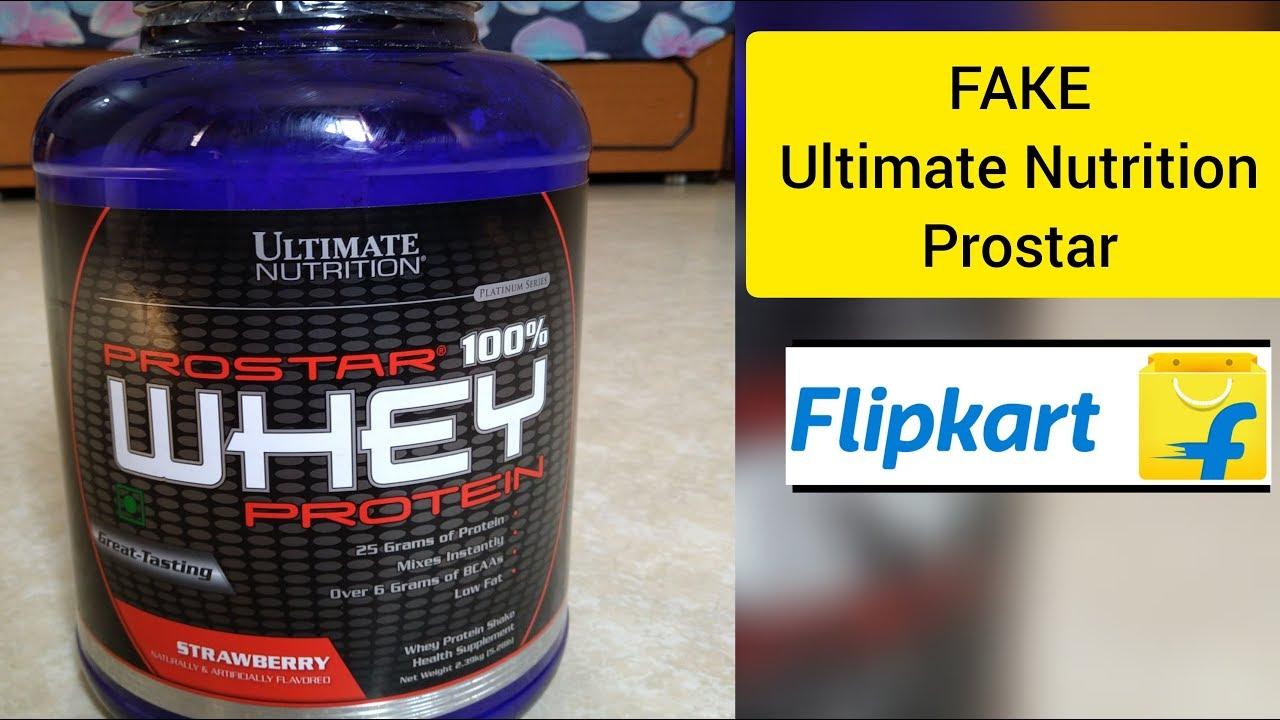 GOT 'FAKE' Ultimate Nutrition Prostar Whey Protein from FLIPKART | BEWARE | Seller SuperComNet
